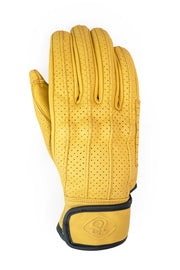 Yellow motorcycle gloves by 78 Motor Co. online at Moto Est Australia