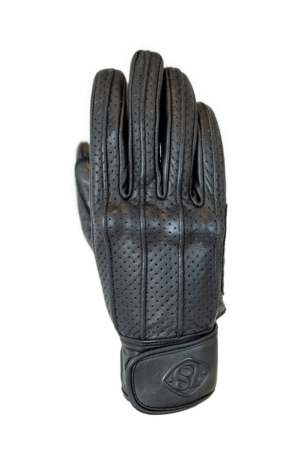 78 Motor Co.  Speed MkIII Nappa Black Leather Motorcycle Gloves