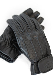 78 Motor Co.  Speed MkIII Nappa Black Leather Motorcycle Gloves at Moto Est