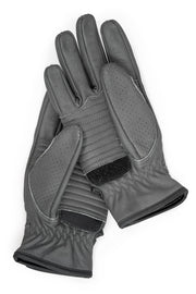 Speed Farina Grey Leather Gloves