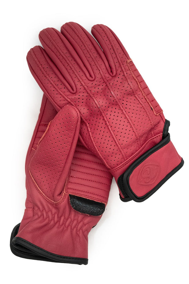 Signet Red Speed motorcycle gloves by 78 Motor Co. online at Moto Est Australia