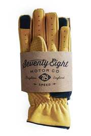 Speed MkIII Dune Yellow Leather Gloves