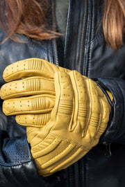 78 Motor Co SPRINT mkIII DUNE YELLOW LEATHER GLOVES
