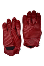 78 Motor Co. sakura red leather motorcycle gloves online at Moto Est. Australia