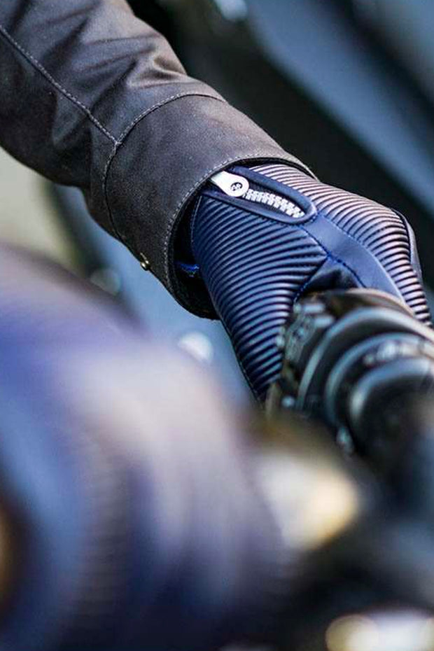 78 Motor Co. sakura leather gloves royal blue online at Moto Est. Australia