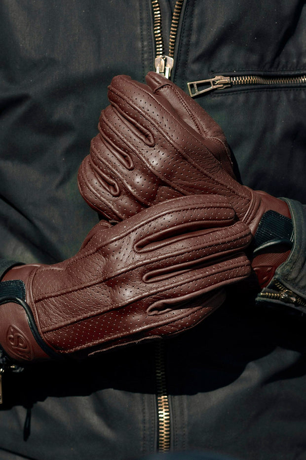 78 Motor Co. Speed MkIII Waxed Espresso motorbike gloves Australia at Moto Est.