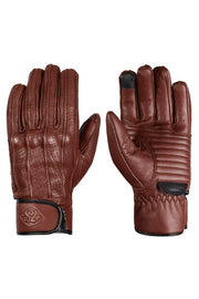 78 Motor Co. Speed MkIII Waxed Espresso motorbike gloves Australia