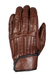 Sprint MkIII Waxed Espresso Leather Gloves by 78 motor co online at Moto est Australia