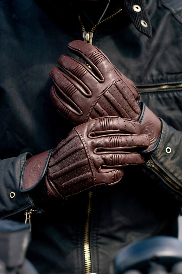 Sprint MkIII Waxed Espresso Leather Gloves by 78 Motor Co