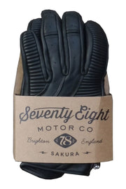 78 Motor Co. sakura glove midnight black online at Moto Est. Australia 5