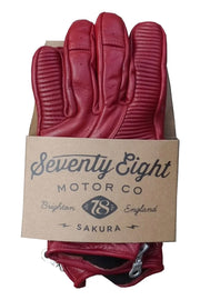 78 Motor Co. sakura gloves in cherry online at Moto Est. Australia
