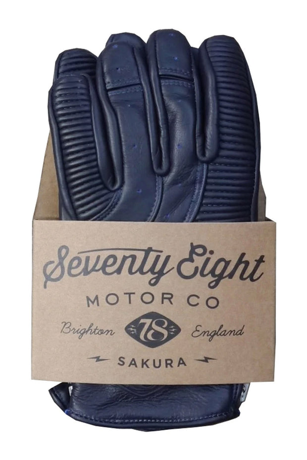 78 Motor Co. sakura glove royal blue online at Moto Est. Australia