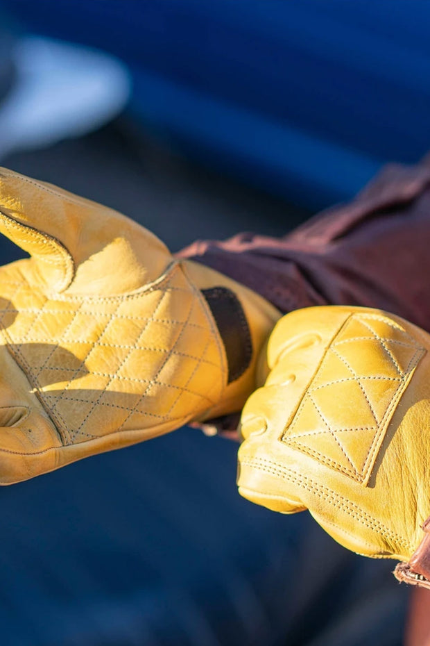 78 Motor Co. sirocco gloves sahara yellow online at Moto Est. Australia 2