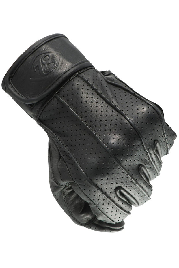 78 Motor Co. speed gloves nappa black online at Moto Est. Australia