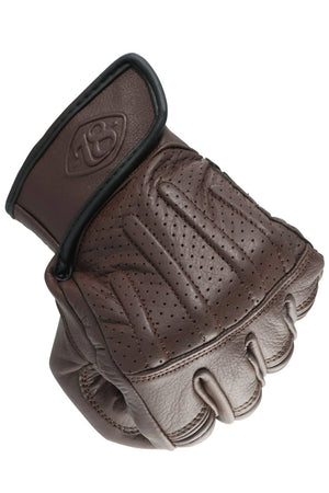 Sprint Leather Motorcycle Gloves | Chocolate