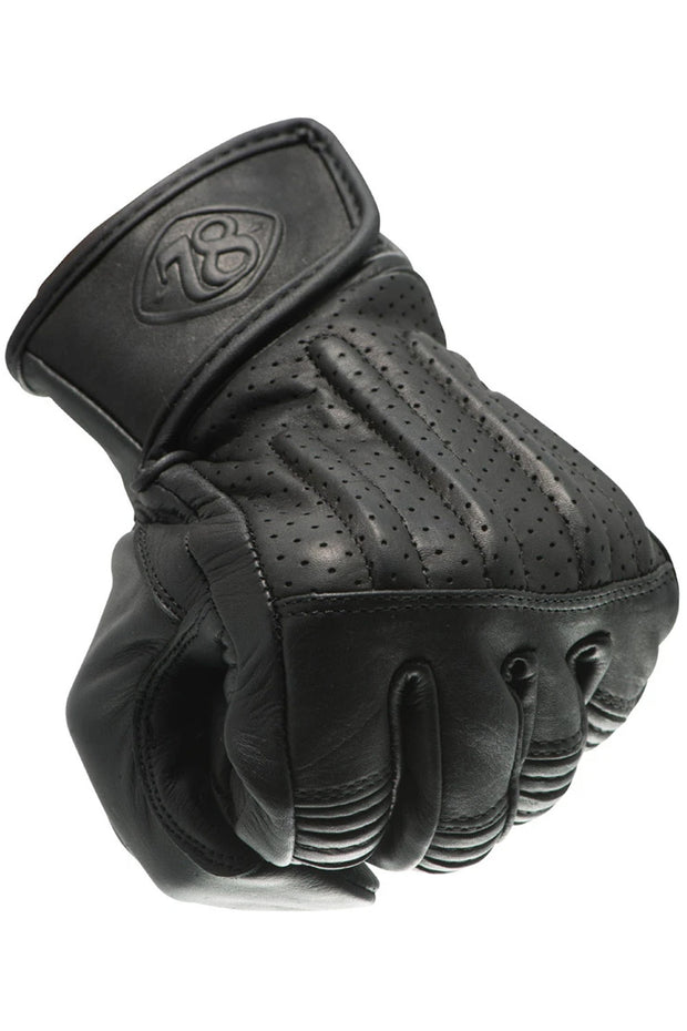 78 Motor Co. sprint gloves nappa black online at Moto Est. Australia