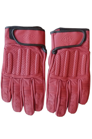 Sprint Leather Motorcycle Gloves | Signet Red