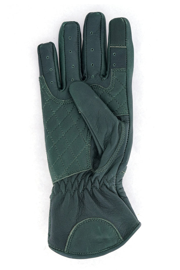Buy the queen bee gloves forest green online at Moto Est. Australia