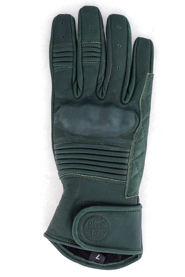 Queen Bee Women's Leather Motorcycle Gloves | Forest Green