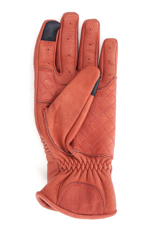 Queen Bee Women's Leather Motorcycle Gloves | Rust