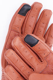 Buy the black arrow queen bee womens leather motorcycle gloves rust online at Moto Est. Australia 4