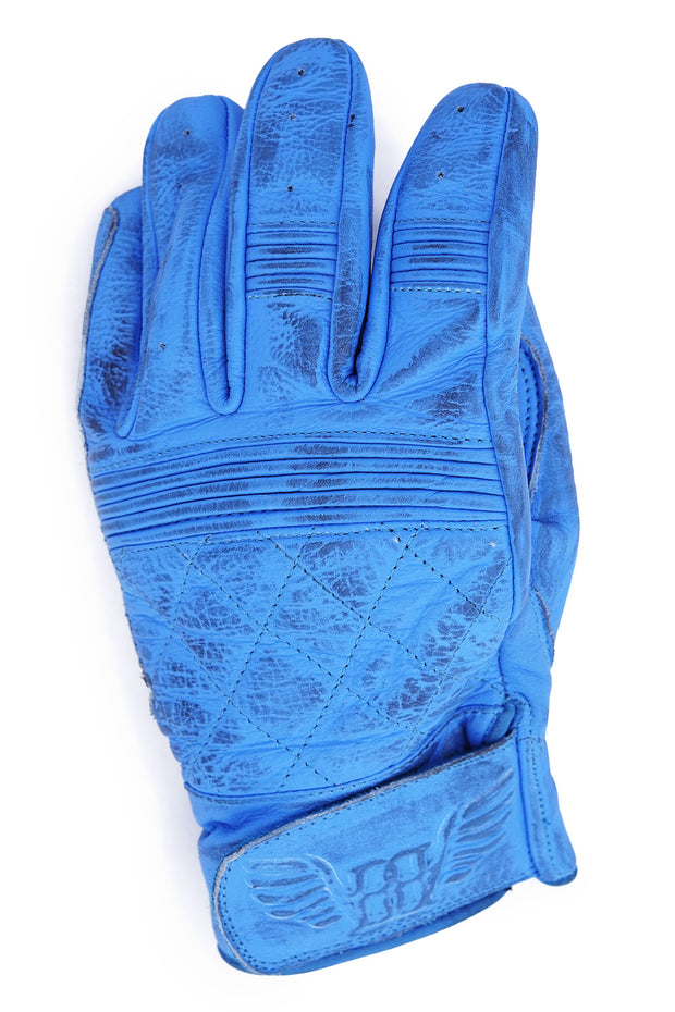 Buy the cafe quilted gloves blue online at Moto Est. Australia 3