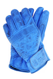 Blackbird Motorcycle Wear Café Quilted Leather Motorcycle Gloves in Blue online at Moto Est. Australia