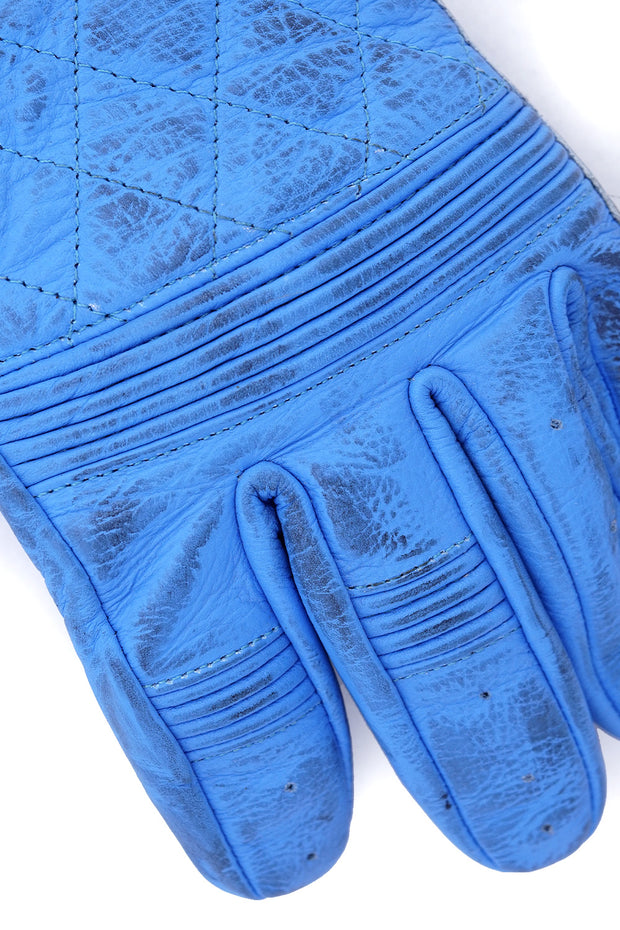 Buy the cafe quilted gloves blue online at Moto Est. Australia 4