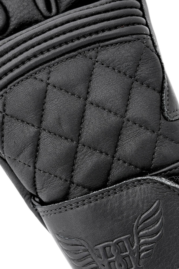 Buy the cafe quilted gloves black online at Moto Est. Australia 5