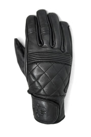 Blackbird Motorcycle Wear Café Quilted Leather Motorcycle Gloves in Black online at Moto Est. Australia