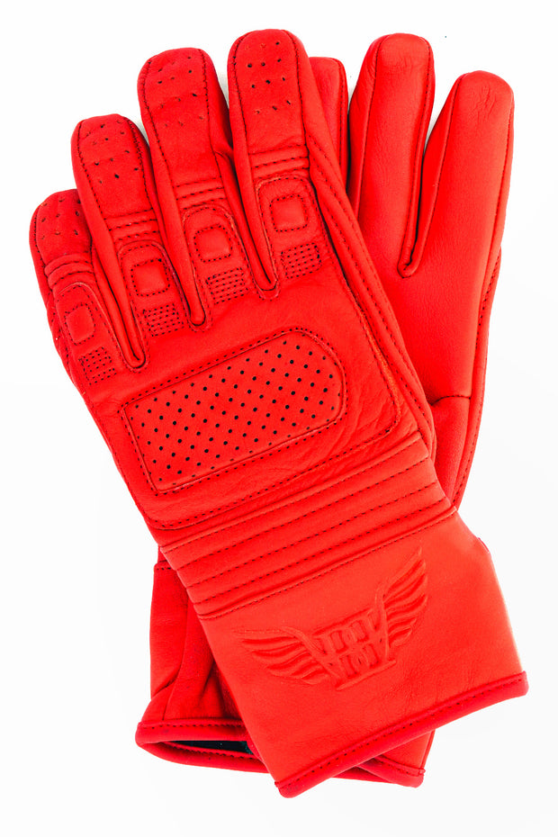 Blackbird Motorcycle Wear Lady in Red Leather Motorcycle Gloves online at Moto Est. Australia