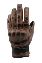 Leather Motorcycle Gloves with Knuckle Protectors