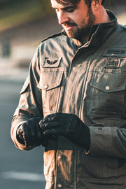 Blackbird Motorcycle Wear  Brixton Men's Leather Motorcycle Gloves online Melbourne Australia