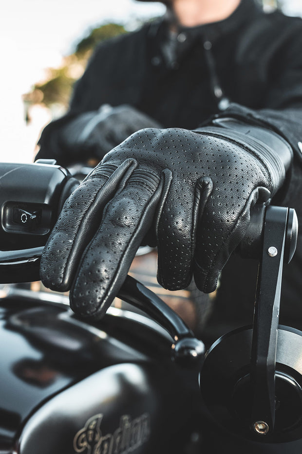 Blackbird Motorcycle Wear  Brixton Men's Leather Motorcycle Gloves online Melbourne Australia Moto Est.