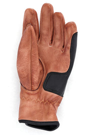 Buy the cafe quilted gloves natural black online at Moto Est. Australia