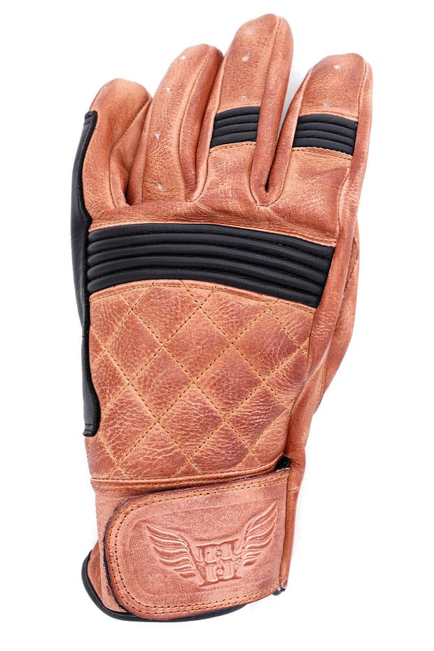 Buy the cafe quilted gloves natural black online at Moto Est. Australia 3