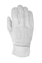 Blackbird Motorcycle Wear Sunday Ride Leather Motorcycle Gloves in White online at Moto Est. Australia