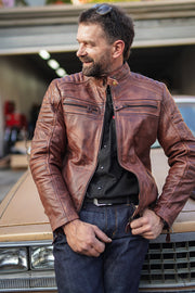 Wakefield Men's Leather Jacket