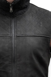 Buy the nubuck vest black online at Moto Est. Australia 3
