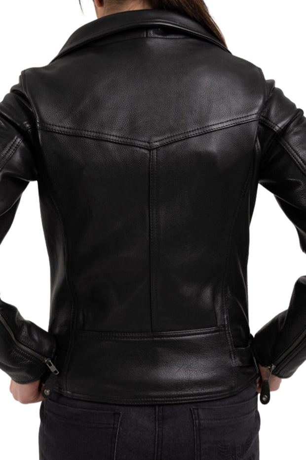 Blackbird Fly By Night Women's Leather Aviator Motorcycle Jacket Australia