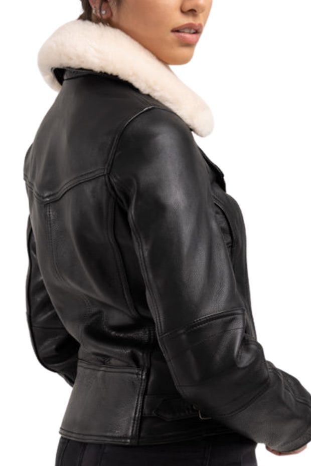 Blackbird Fly By Night Women's Leather Motorcycle Jacket Australia
