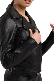 Blackbird Fly By Night Women's Leather Motorcycle Jacket