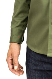 Clutch Moto Recon Military Green - Long Sleeve Riding Shirt Moto Est Australia detail