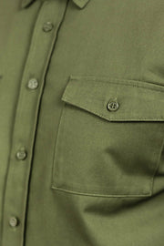 Clutch Moto Recon Military Green - Long Sleeve Riding Shirt Moto Est Australia pocket