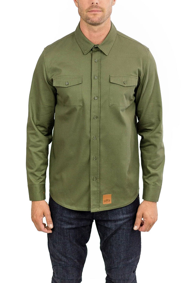 Clutch Moto Recon Long Sleeve Riding Shirt in  Military Green online at Moto Est. Australia