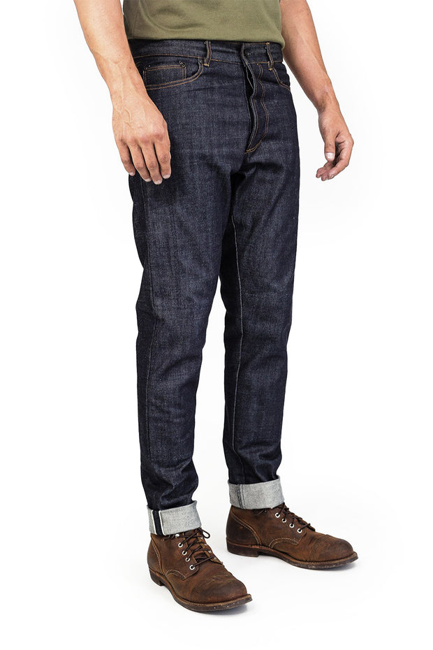 Clutch Moto Selvedge Motorcycle Jeans in Indigo online at Moto Est. Australia