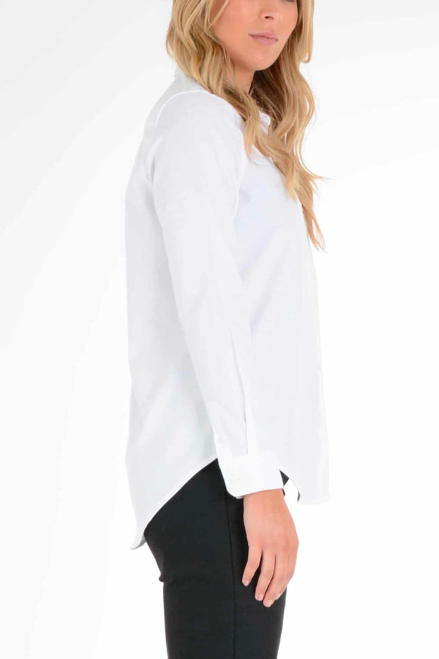 Clutch Moto  Skyline Women's White Long Sleeve Shirt Moto Est.