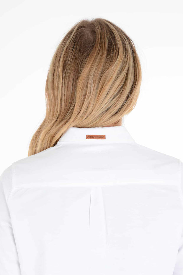 Women's White Long Sleeve Shirt Moto Est.