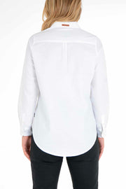 Clutch Moto  Skyline Women's White Long Sleeve Shirt Moto Est. Australia