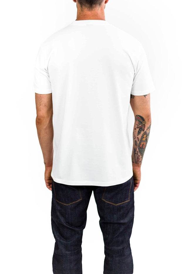 Buy the clutch moto cuban tee white online at Moto Est. Australia